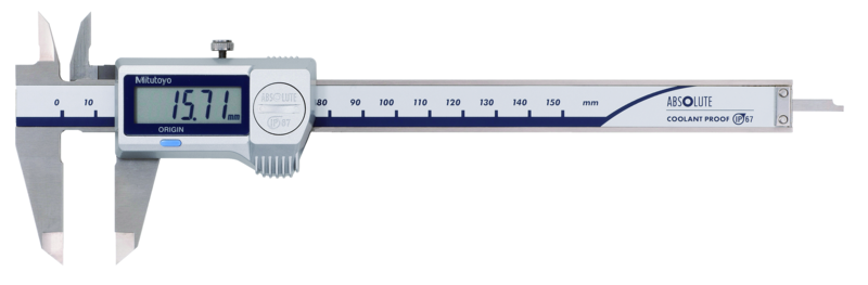 Thước cặp điện tử, Digital ABS Caliper CoolantProof IP67 0-150mm, Rod, w/o Data Output, 500-709-20
