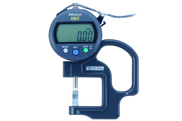 Đồng hồ đo độ dày điện tử, 0-10mm, , 0,01mm, 547-315