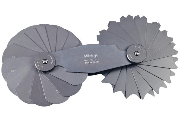 Dưỡng Đo Bán Kính, 15,5-25mm, 30 lá Mitutoyo, 186-107